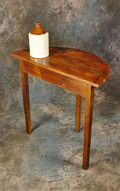 Rustic Reclaimed Wood Half Moon Table 32L x 16D x 30H