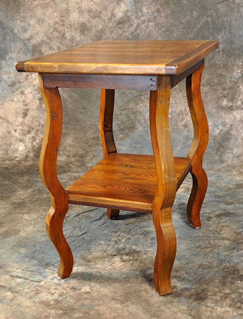 Rustic Reclaimed Wood French Rectangle Cricket Table 24L x 18D x 27H