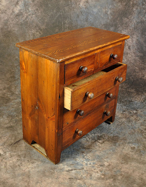 Rustic Reclaimed Wood Small 5 Drawer Dresser Table 27L x 14D x 29H