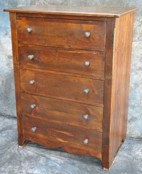 Rustic Reclaimed Wood 5 Drawer Dresser 36L x 20D 46H