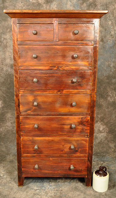 Rustic Reclaimed Wood Highboy Dresser 32L X 18D x 63H