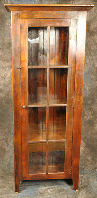 Rustic Reclaimed Wood 8 Pane Glass Door Cupboard 32L x 12D x 78H