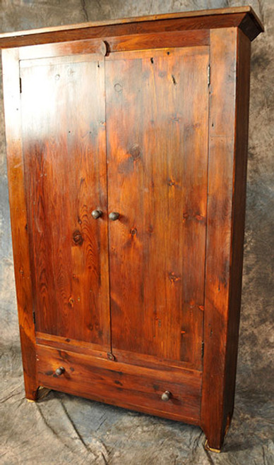 Rustic Reclaimed Wood Flat Door Pantry Cupboard 46L x 14D x 72H