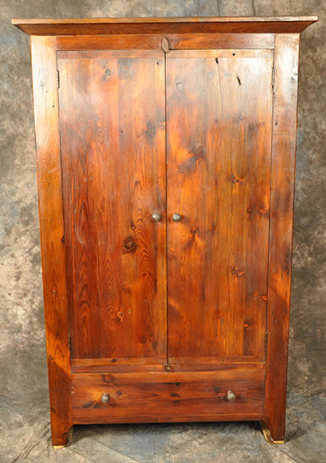 Rustic Reclaimed Wood Flat Door Pantry Cupboard 46L x 14D x 72H