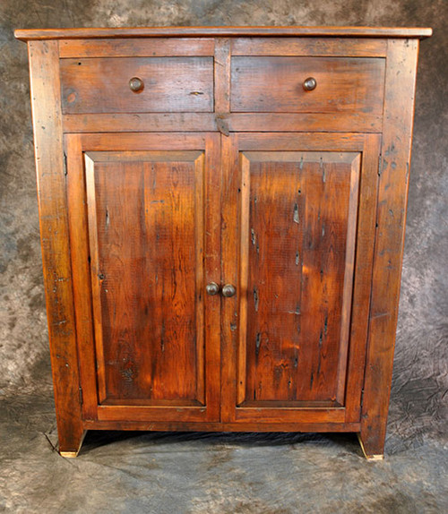 Rustic Reclaimed Wood Jelly Cupboard With Raised Panel 45L x 19D x 52H
