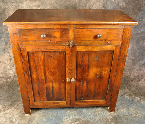 Rustic Reclaimed Wood Jelly Cupboard With Recessed Panel 45L x 19D x 52H