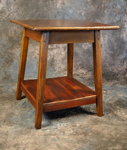 Rustic Reclaimed Wood Lamp Table 24W x 24D x 27H