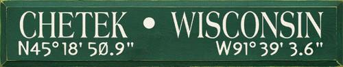 Latitude and Longitude Custom Wood Sign