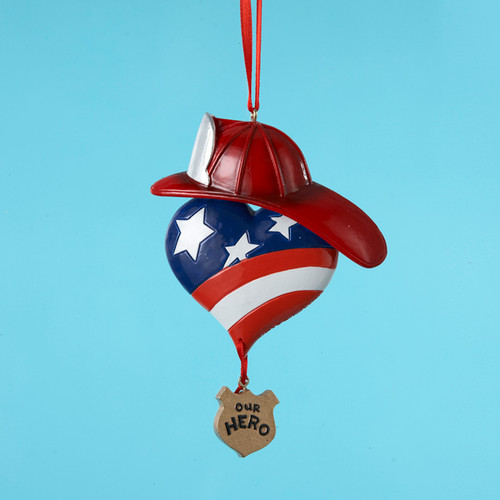 Fireman Our Hero Personalized Ornament