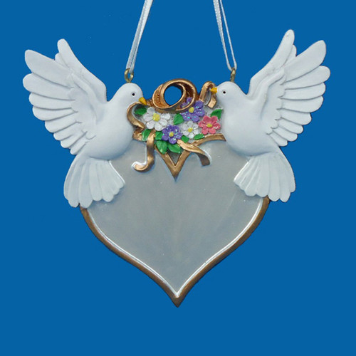 Wedding Doves Personalized Ornament