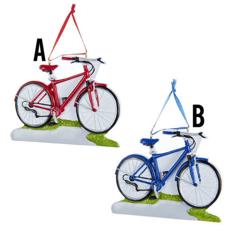 Bicycle Personalized Ornament 2 Assorted
