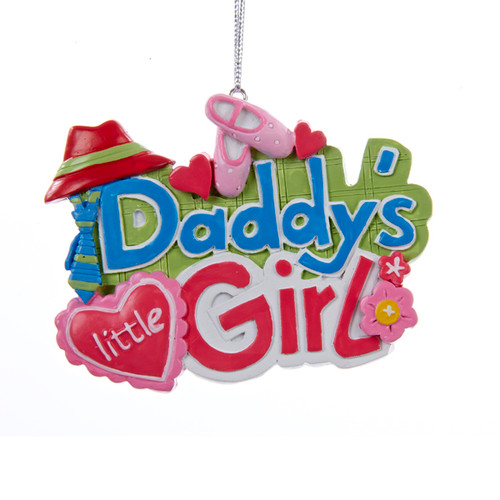 Ornament Daddy's Little Girl 3 x 4 inch Adorable Ornament