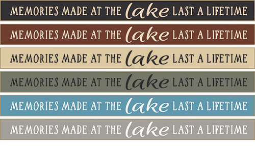 """Memories Made At The Lake Last A Lifetime Wood Sign 18"""""""