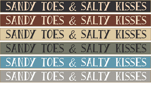 """Sandy Toes And Salty Kisses Wood Sign 18"""""""