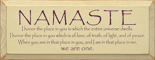 Wood Sign - Namaste