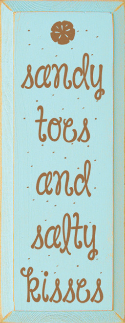 beach house wood sign sandy toes salty kisses