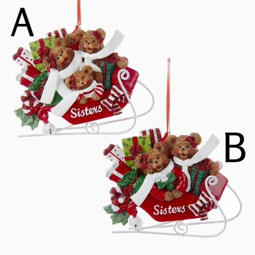 2 or 3 sisters ornament!