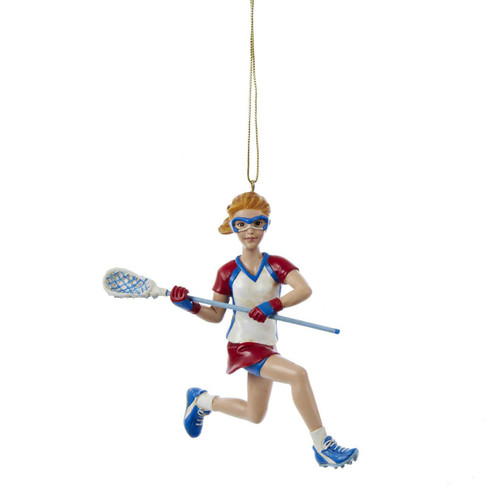 Lacrosse Girl Figurine  Personalized Ornament 5 inch Resin