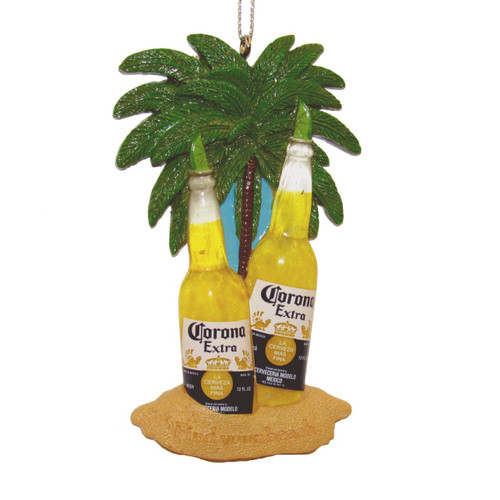 Corona Bottles In Sand Ornament 4 inch