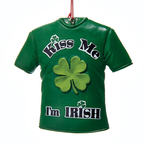 Kiss Me I'm Irish Shirt Ornament Personalized