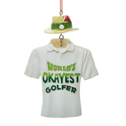 World's Okayest Golfer Ornament Personalized