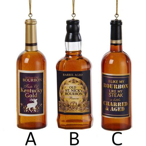 Bourbon Bottle Ornament