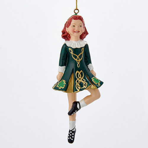 Dancing Irish Girl Ornament Personalized