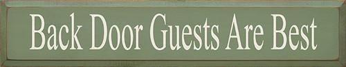 """Back Door Guests Are Best Wood Sign 36"""""""