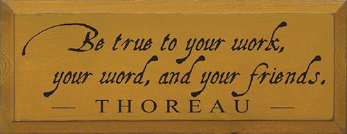 friends sign sign for friends gift for friends showing friends you care thoreau quote