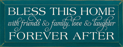 Family Wood Sign Bless This Home With Friends And Family Love And ...