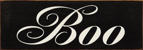 Boo - Halloween Wood Sign