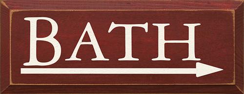 Bath (Right Arrow) Wood Sign