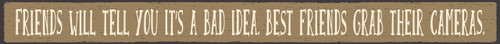 Wood Sign - Friends Will Tell You It's A Bad Idea. Best Friends Grab A ...