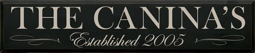 "Black with Putty Lettering 48""W x 9""H  Custom Wood Sign"