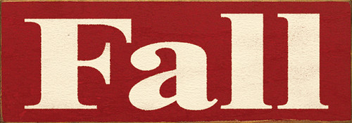 Wood Sign - Fall