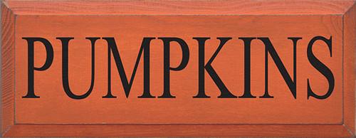 Wood Sign - Pumpkins