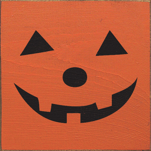 Wood Sign - Jack o' Lantern Face