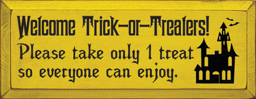 Wood Sign - Welcome Trick-or-Treaters!