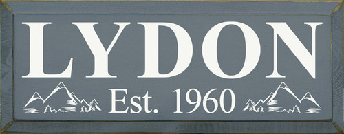 CUSTOM Lydon Est. 1960    18in.W x 7in.H  Wood Sign