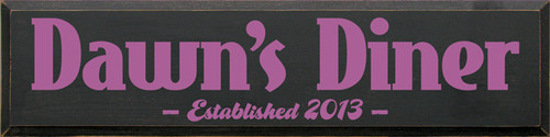 CUSTOM Dawn's Diner 9x36