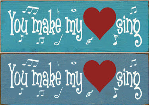 CUSTOM You Make My Heart Sing 3.5x10