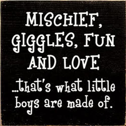 CUSTOM Mischief, Giggles, Fun and Love... 7x7