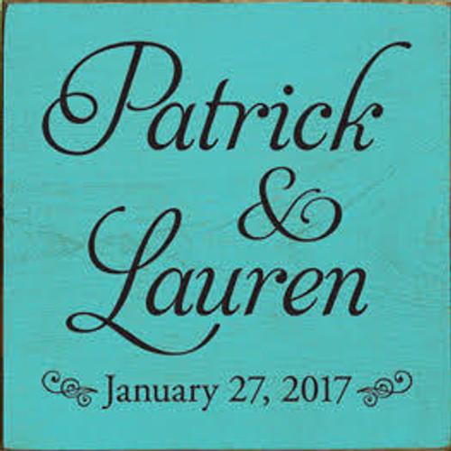 CUSTOM Patrick and Lauren  7x7