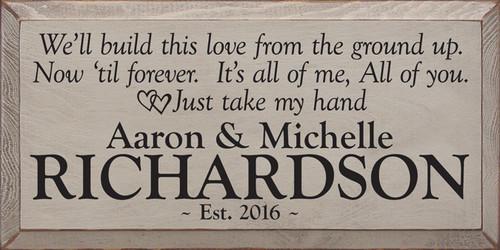 CUSTOM Aaron and Michelle Richardson 18 x 9