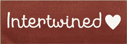 """Custom Wood Sign 3.5"""" x 10"""" Burgundy Board with White Text"""