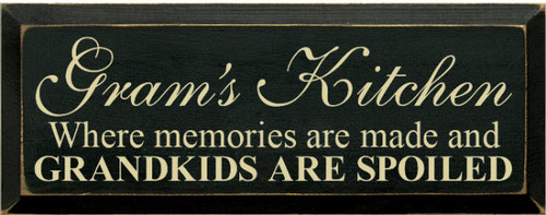 Wood Sign - [CUSTOM]'s Kitchen - Where memories are made...