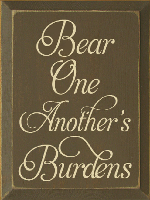 CUSTOM Bear One Another's Burdens 9x12