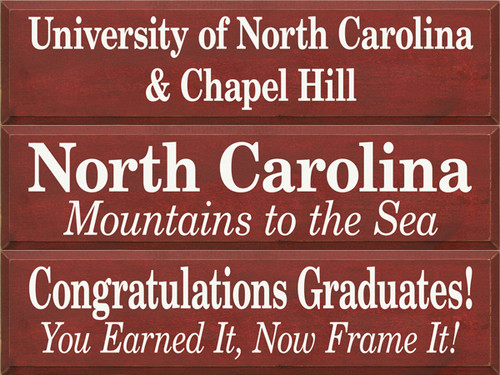 CUSTOM Congratulations Graduates / North Carolina / University Of North Carolina 9x36
