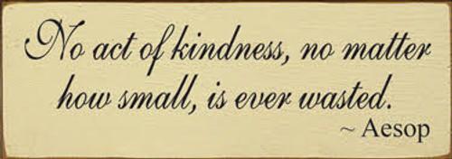 CUSTOM No Act Of Kindness... 10x3.5