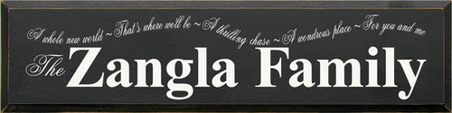 CUSTOM The Zangla Family 9x36 Wood Sign